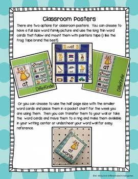 Short 'A' Word Family Word Work Galore Bundle-Differentiated/Aligned