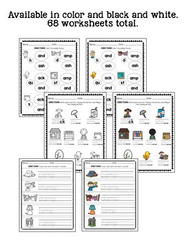 Short A Word Family: Worksheets