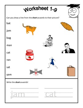 Short A Word Reading Practice