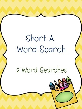 Short A Word Searches!