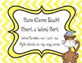 Short A Word Sort for Sam, Come Back!