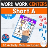 Short A Word Family Activity | Word Building Mats