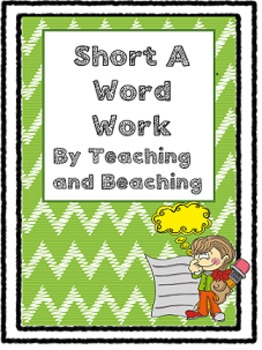 Short A Word Work Differentiated