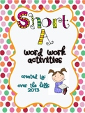 Short A--Word Work Literacy Activities