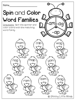 Short-A Word Work No Prep!