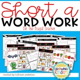 Short A Word Work for the Frugal Teacher