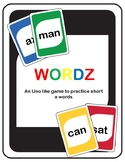 Short A Wordz (an Uno like game to practice short A words)