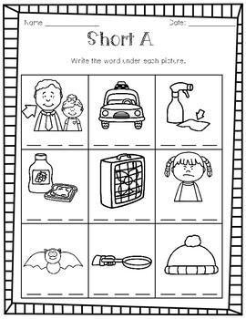 Short A Worksheet