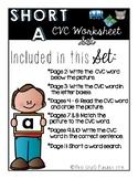 Short A Worksheet Set