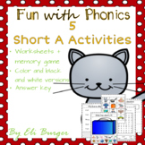 """Short """"A"""" Worksheets - Fun with Phonics!"""