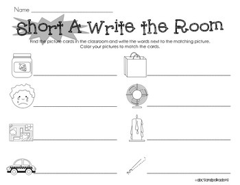 Short A Write the Room {CVC Words}