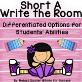 Short A- Write the Room! {Differentiated Options!}