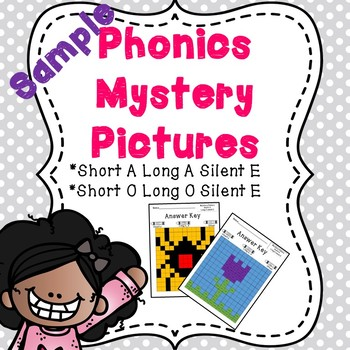 Short Vowel and Long Vowel Silent E Phonics Mystery Picture Freebie