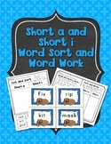 Short A and Short I Word Sorts and Word Work Activities: Print and Go!
