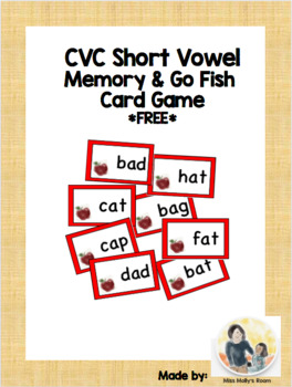 Short A memory/go fish game