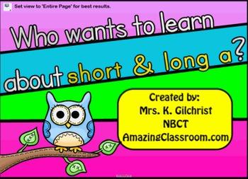Short A or Long A Smart Notebook