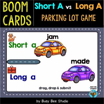 Short -A- or Long -A- Sorts | Boom Cards | Parking Lot Game