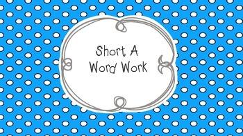 Short A word work freebie