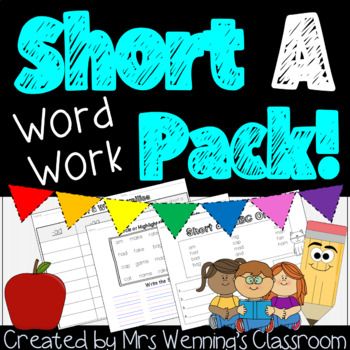 Short Aa Lesson Plans and Word Work!