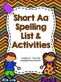Short Aa Spelling List and Activities