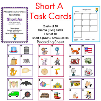 Short A Task Cards