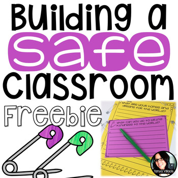 FREE NO PREP Activities for Building a SAFE Classroom Grades 3-5 FREEBIE