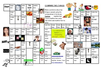 Short Adjectives - Comparative Board Game