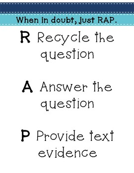 Short Answer/ Essay Response Structure