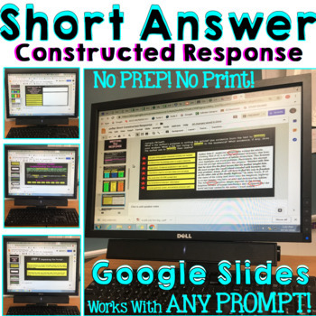 Short Answer Extended Response Digital/Paperless Tutorial PDF and Google Drive