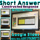 Constructed Response Builder for Google Classroom: Extended or Short Answer