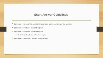 Short Answer Practice: Mini Lesson: Writing