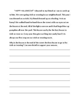 Short Answer Reading Comprehension Test Prep