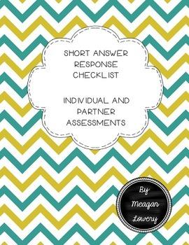 Short Answer Response Checklist