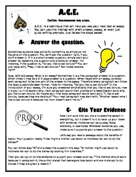 Extended Response Questions  (How to Teach Your Kids to Use Evidence Correctly)
