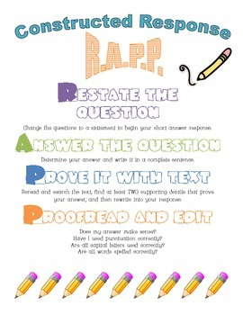 Short Answer Response R.A.P.P Poster