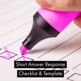 Short Answer Response (S.A.R.) Checklist & Template