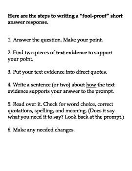 Short Answer Response Strategy