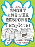 Short Answer Response TEMPLATES for student success!