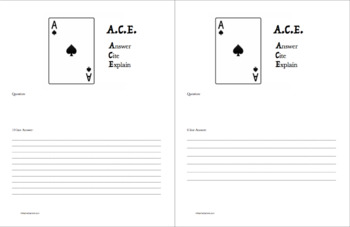 ACE Writing Strategy Organizer and Model