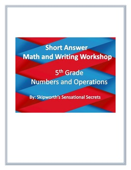 Short Answer Math and Writing Cards for Math workshops/ centers