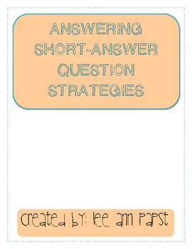 Short Answering Strategies
