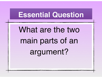 Short Argument Picture Practice - Standards-Based Lessons