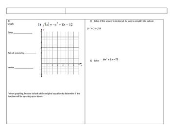 Short Assessment on Quadratics
