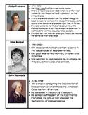 Short Biographies for Texas 2nd grade Social Studies
