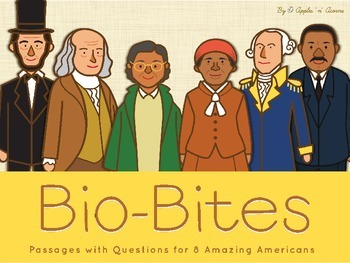 Short Passages/Biographies with Questions - Amazing Americans