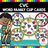 Short CVC Word Family Clip Cards