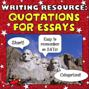 Essay Resource:  Quotations