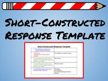 Short Constructed Response Template