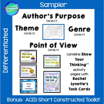 Author's Purpose, Point of View, Genre & Theme Constructed Response Practice
