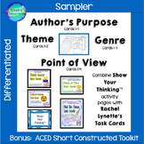 Constructed Response Practice: Theme, Genre, Author's Purp